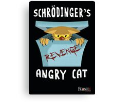 Schrödinger's angry cat Canvas Print