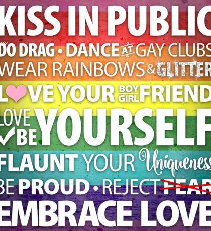 Kiss In Public Sticker