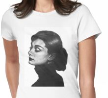 Audrey Hepburn hand drawn Womens Fitted T-Shirt