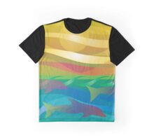 Dolphins at Sunset Graphic T-Shirt