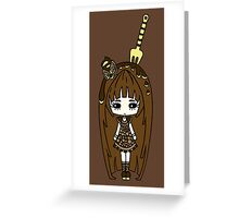 Brauny Retro by Lolita Tequila Greeting Card