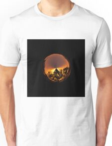 Sunset in the globe Unisex T-Shirt