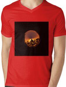 Sunset in the globe Mens V-Neck T-Shirt
