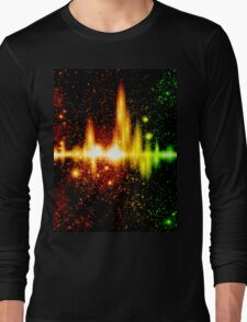Retro space background Long Sleeve T-Shirt