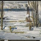 George Wesley Bellows (American, ). A Morning Snow--Hudson River,  by MotionAge Media