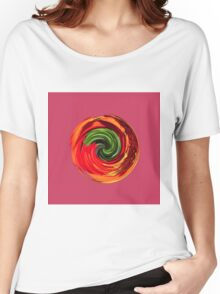 Red flower in a twirl Women's Relaxed Fit T-Shirt