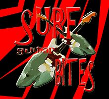 SURF GUITAR BITES black & red stripped by Matterotica