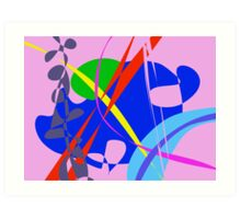 Psychedelic Abstract Pattern Art Print