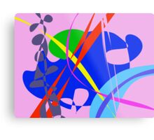 Psychedelic Abstract Pattern Metal Print