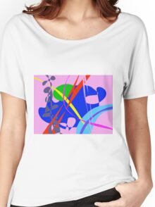 Psychedelic Abstract Pattern Women's Relaxed Fit T-Shirt