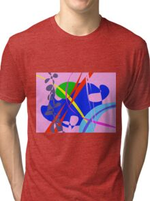 Psychedelic Abstract Pattern Tri-blend T-Shirt