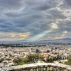 Sunbeams over the City in HDR by Vicki Spindler (VHS Photography)