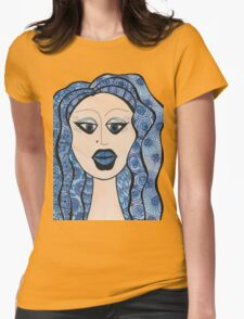 Lady Has the Blues Womens Fitted T-Shirt