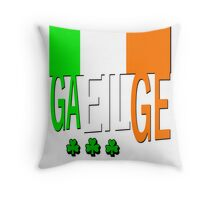 IRISH FLAG, GAEILGE, Ireland. Throw Pillow