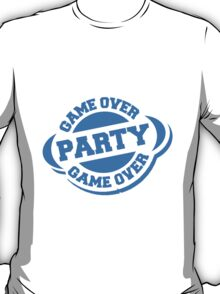 Game Over Party Stempel Logo T-Shirt