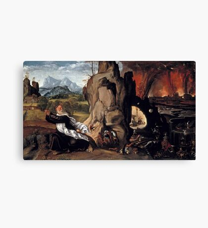 Giovanni Girolamo Savoldo, active  Torment of St. Anthony Canvas Print