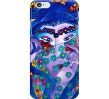 Flower Geisha Hand Drawn Face iPhone Case/Skin