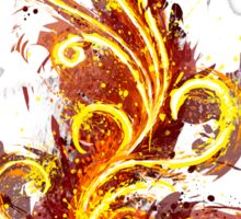Abstract Flame Sticker