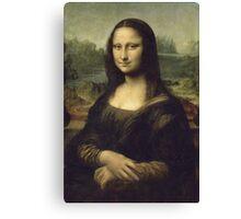 Leonardo Da Vinci - Mona Lisa. Woman portrait: Monna Lisa, Gioconda, smile, enigmatic,  italian, florence, smile gioconda, smile  mona lisa, love, painting , leonardo da vinci paintings Canvas Print
