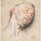 Head of a Man , Antoine Watteau (French, Valenciennes  Nogent-sur-Marne) by MotionAge Media