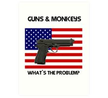 Gun addiction USA . open access to guns, what could possibly go wrong? Art Print