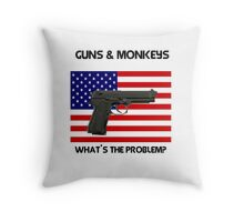Gun addiction USA . open access to guns, what could possibly go wrong? Throw Pillow