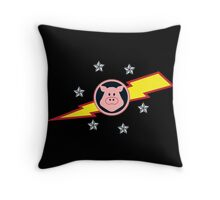 Pigs in Space Throw Pillow