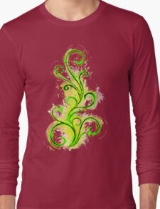 Abstract Flame Long Sleeve T-Shirt