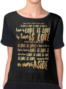 love is love is love is love Chiffon Top