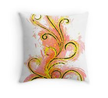 Abstract Flame Throw Pillow