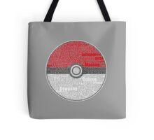 Pokeball word-art Tote Bag