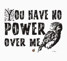 You have no power over me (Black) Baby Tee