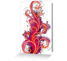 Abstract Flame Greeting Card