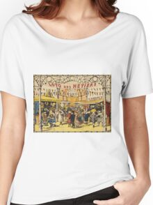 Loto Des Metiers - Loto Des Metiers Poster. Сhildren portrait: Сhildren, kids, Fair, shop, child, kids, toy, boys and girls, boy and girl, Shop toys, childhood Women's Relaxed Fit T-Shirt