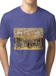 Loto Des Metiers - Loto Des Metiers Poster. Сhildren portrait: Сhildren, kids, Fair, shop, child, kids, toy, boys and girls, boy and girl, Shop toys, childhood Tri-blend T-Shirt