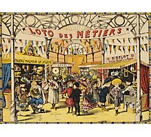 Loto Des Metiers - Loto Des Metiers Poster. Сhildren portrait: Сhildren, kids, Fair, shop, child, kids, toy, boys and girls, boy and girl, Shop toys, childhood Photographic Print