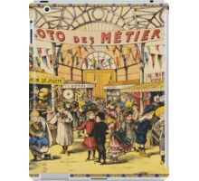 Loto Des Metiers - Loto Des Metiers Poster. Сhildren portrait: Сhildren, kids, Fair, shop, child, kids, toy, boys and girls, boy and girl, Shop toys, childhood iPad Case/Skin