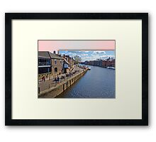 Kings Staith York river Ouse Framed Print