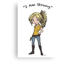 Beth: I Am Strong Canvas Print
