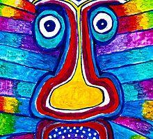 Rainbow Hand Drawing Face by aurielaki