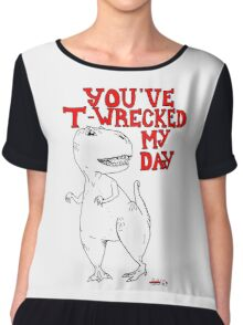 Animals Are Mean: T-Rex Chiffon Top