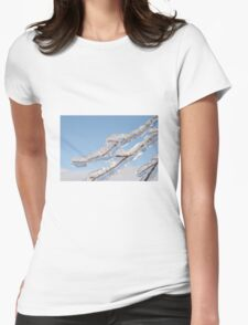 Twigs in ice  Womens Fitted T-Shirt