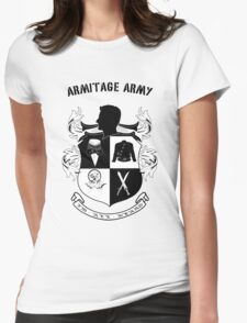 Armitage Army CoA -txt- Womens Fitted T-Shirt