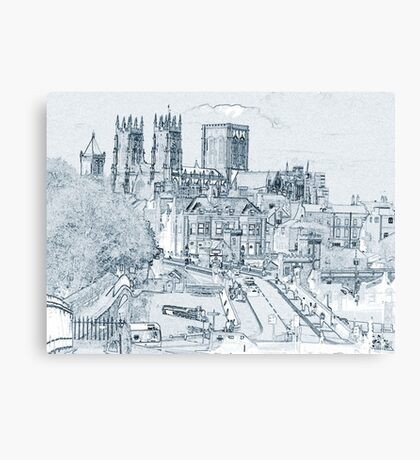 York, in pen and ink Canvas Print