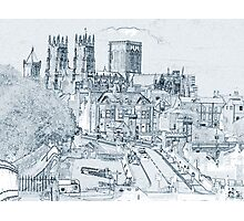 York, in pen and ink Photographic Print