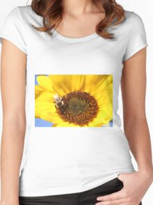 Sunflower Bee Women's Fitted Scoop T-Shirt