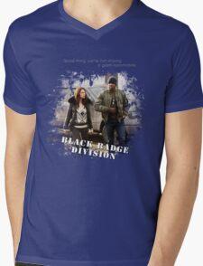 Wynonna Earp - Black Badge Division Mens V-Neck T-Shirt