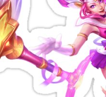 Star Guardian Lux (pink background) Sticker
