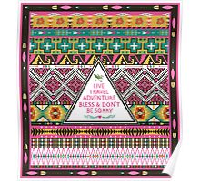 Native american colorful  tribal pattern Poster