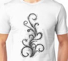 Abstract Flame Sketch Unisex T-Shirt